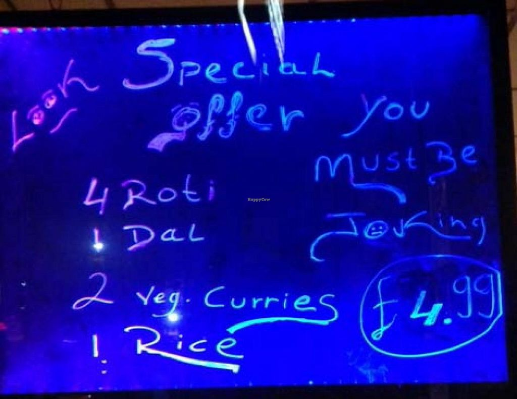 """Photo of Ronak Vegetarian Restaurant  by <a href=""""/members/profile/jon%20active"""">jon active</a> <br/>A Ronak offer/menu/window sign <br/> March 9, 2014  - <a href='/contact/abuse/image/14186/65559'>Report</a>"""