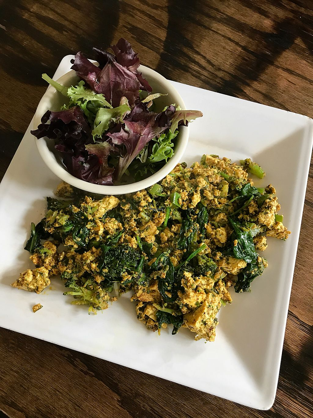 """Photo of Strong Hearts Cafe  by <a href=""""/members/profile/Dimanta"""">Dimanta</a> <br/>Green Tofu Scramble $8.50 <br/> March 14, 2018  - <a href='/contact/abuse/image/14197/370351'>Report</a>"""