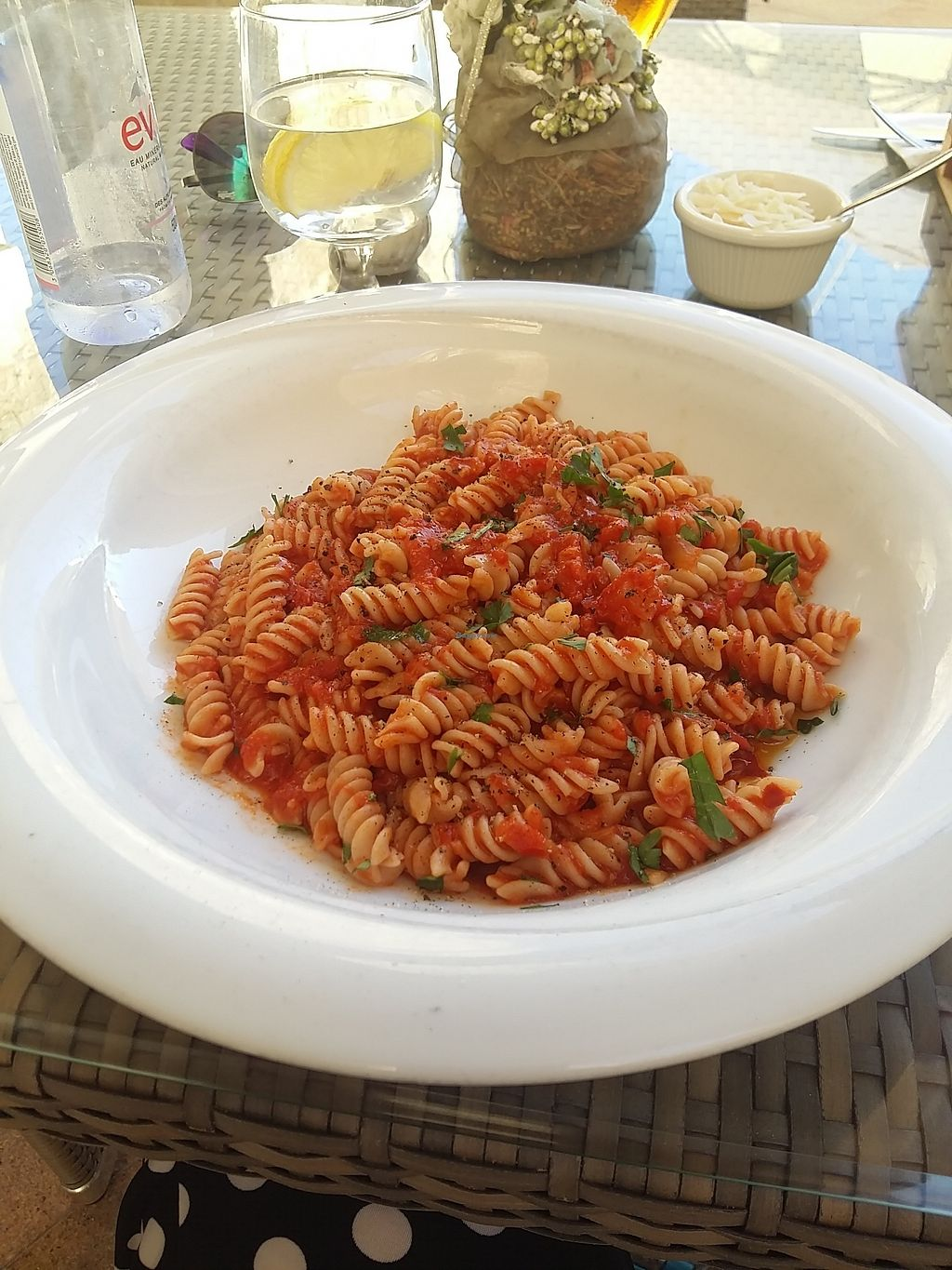 """Photo of Tate Cafe Bar  by <a href=""""/members/profile/ninaframbuesa"""">ninaframbuesa</a> <br/>Fusilli with """"spicy"""" sauce which wasn't actually spicy <br/> August 5, 2017  - <a href='/contact/abuse/image/14246/289223'>Report</a>"""