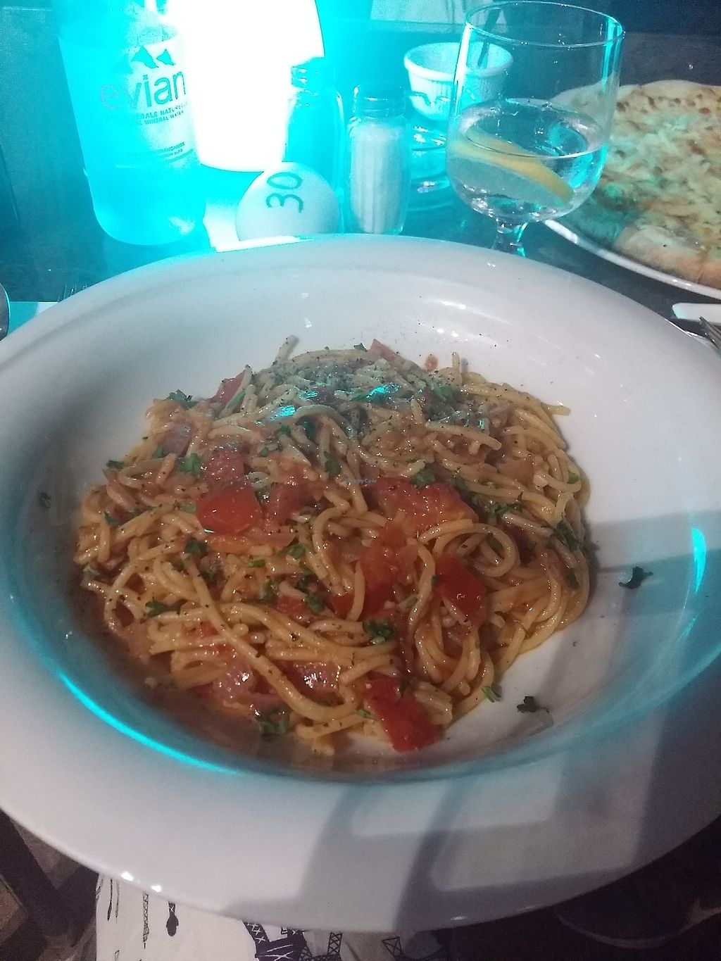 """Photo of Tate Cafe Bar  by <a href=""""/members/profile/ninaframbuesa"""">ninaframbuesa</a> <br/>Asian-inspired dish, not a good match with the spaghetti <br/> August 5, 2017  - <a href='/contact/abuse/image/14246/289224'>Report</a>"""