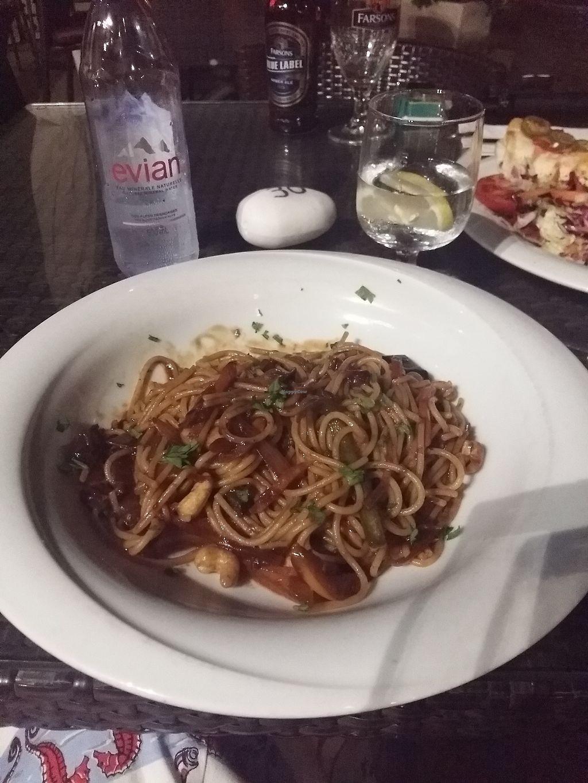"Photo of Tate Cafe Bar  by <a href=""/members/profile/ninaframbuesa"">ninaframbuesa</a> <br/>Spaghetti with garlic sauce <br/> August 5, 2017  - <a href='/contact/abuse/image/14246/289225'>Report</a>"