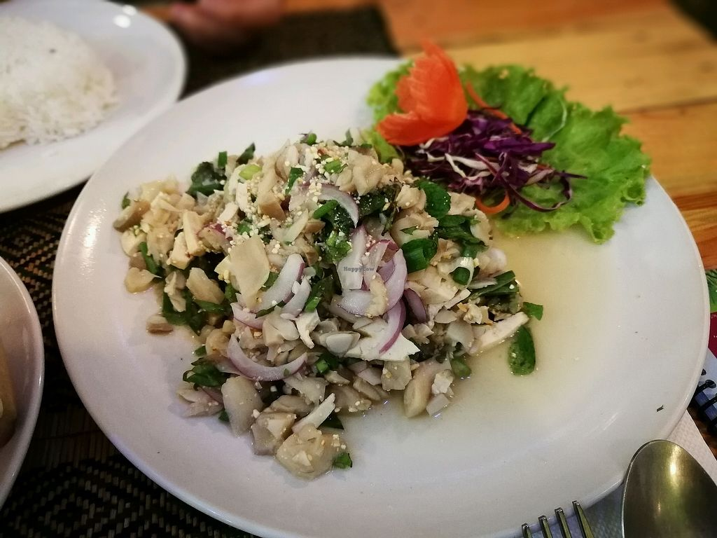"""Photo of Taste from Heaven  by <a href=""""/members/profile/PatrickTunhapong"""">PatrickTunhapong</a> <br/>Mushroom Larb - sour salad <br/> January 2, 2018  - <a href='/contact/abuse/image/14253/342086'>Report</a>"""