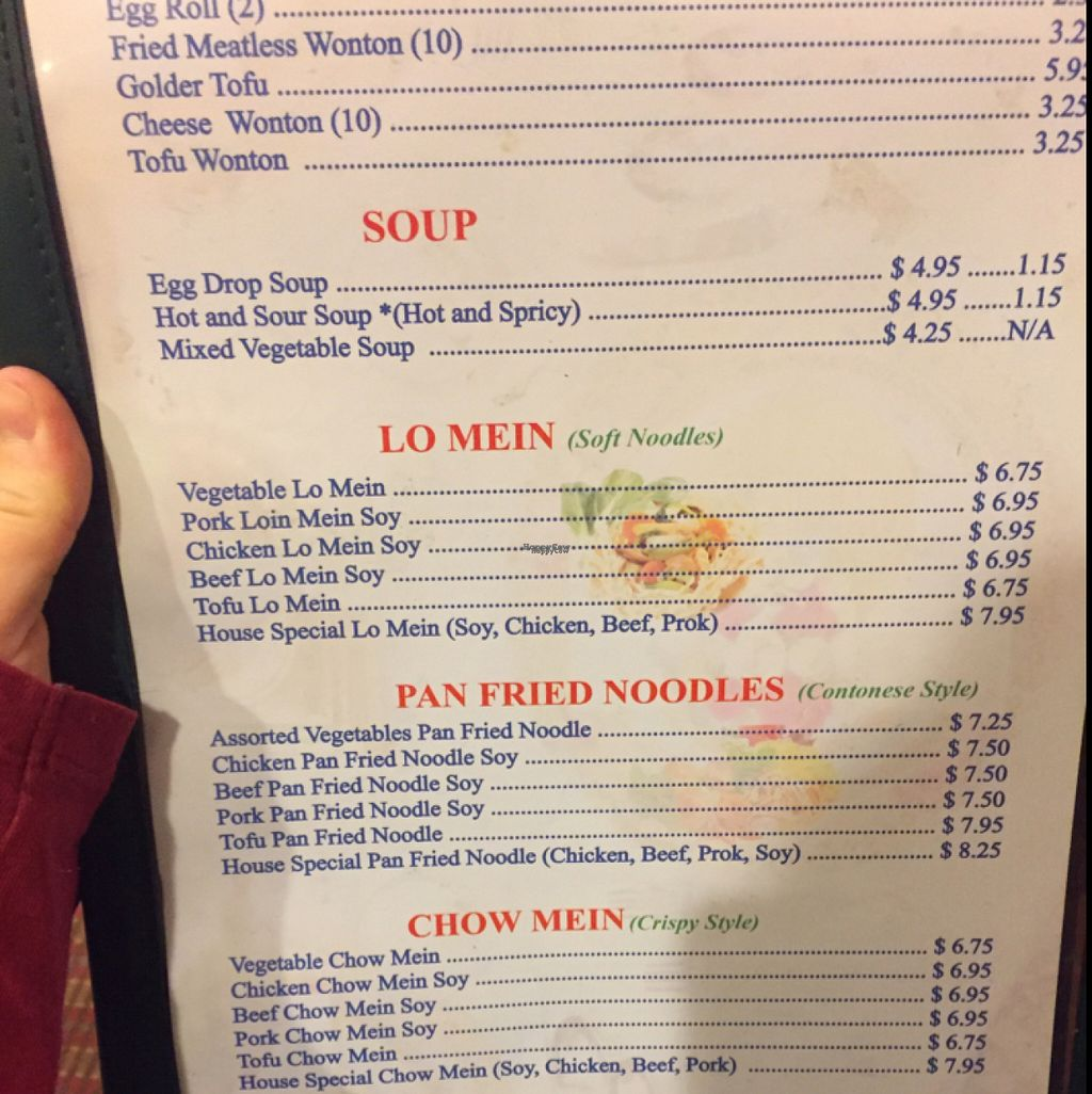 """Photo of CLOSED: Rice King  by <a href=""""/members/profile/AshleaRae"""">AshleaRae</a> <br/>vegetarian menu <br/> November 6, 2016  - <a href='/contact/abuse/image/14297/186795'>Report</a>"""