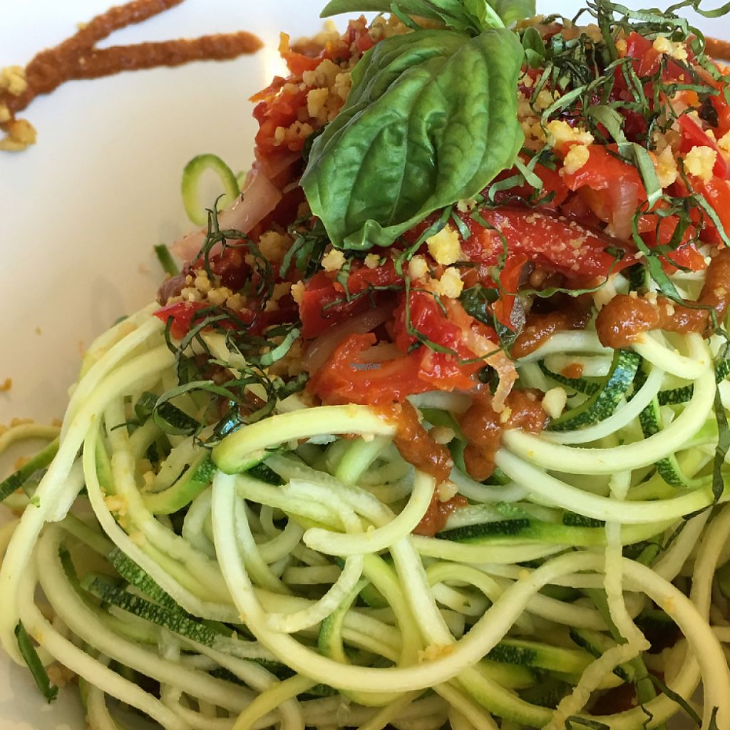 "Photo of Leafy Greens Cafe  by <a href=""/members/profile/KWdaddio"">KWdaddio</a> <br/>Zucchini Spaghetti all raw <br/> February 24, 2017  - <a href='/contact/abuse/image/14358/230012'>Report</a>"