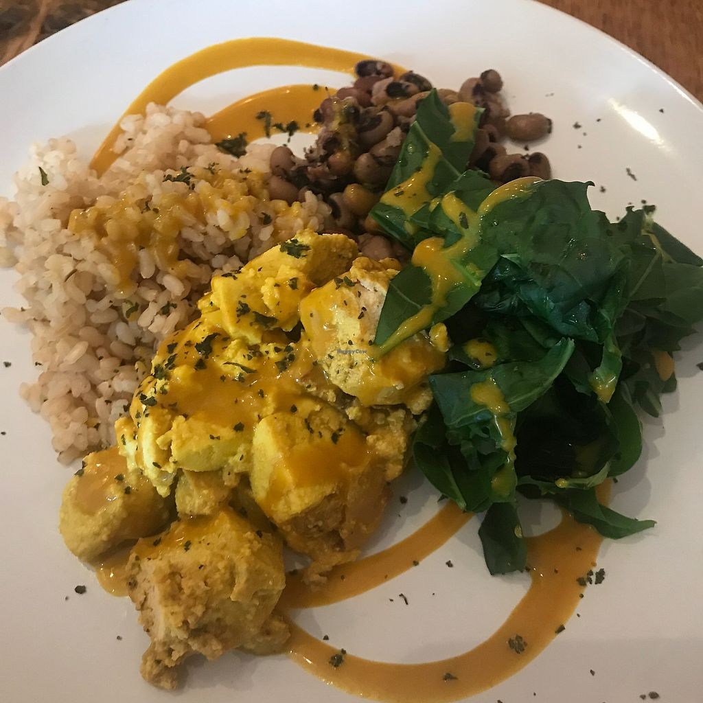 """Photo of CLOSED: Sun in Bloom  by <a href=""""/members/profile/wanderlustarcher"""">wanderlustarcher</a> <br/>Sunrise Scramble: This is a great meal on the menu. More of a lunch meal for me since it has rice & a bean of the day but nonetheless, it was fantastic & I'll definitely recommend everyone get them some of this <br/> July 8, 2017  - <a href='/contact/abuse/image/14366/277866'>Report</a>"""