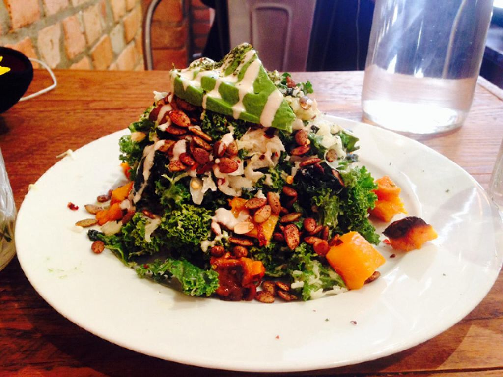 """Photo of CLOSED: Sun in Bloom  by <a href=""""/members/profile/Trishroberts"""">Trishroberts</a> <br/>amazing kale salad! <br/> April 11, 2015  - <a href='/contact/abuse/image/14366/98580'>Report</a>"""
