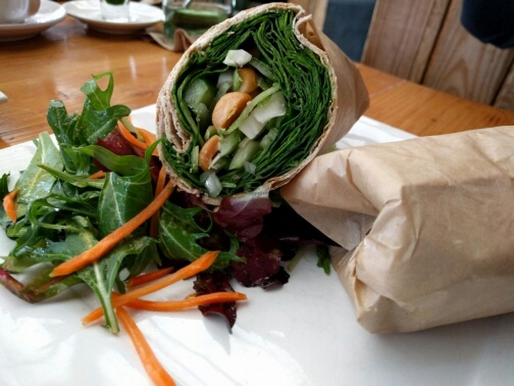 "Photo of Kreation Organic Kafe & Juicery  by <a href=""/members/profile/The%20Hungry%20Vegan"">The Hungry Vegan</a> <br/>Crunchy California Wrap, hold the bacon <br/> January 18, 2016  - <a href='/contact/abuse/image/14384/132939'>Report</a>"