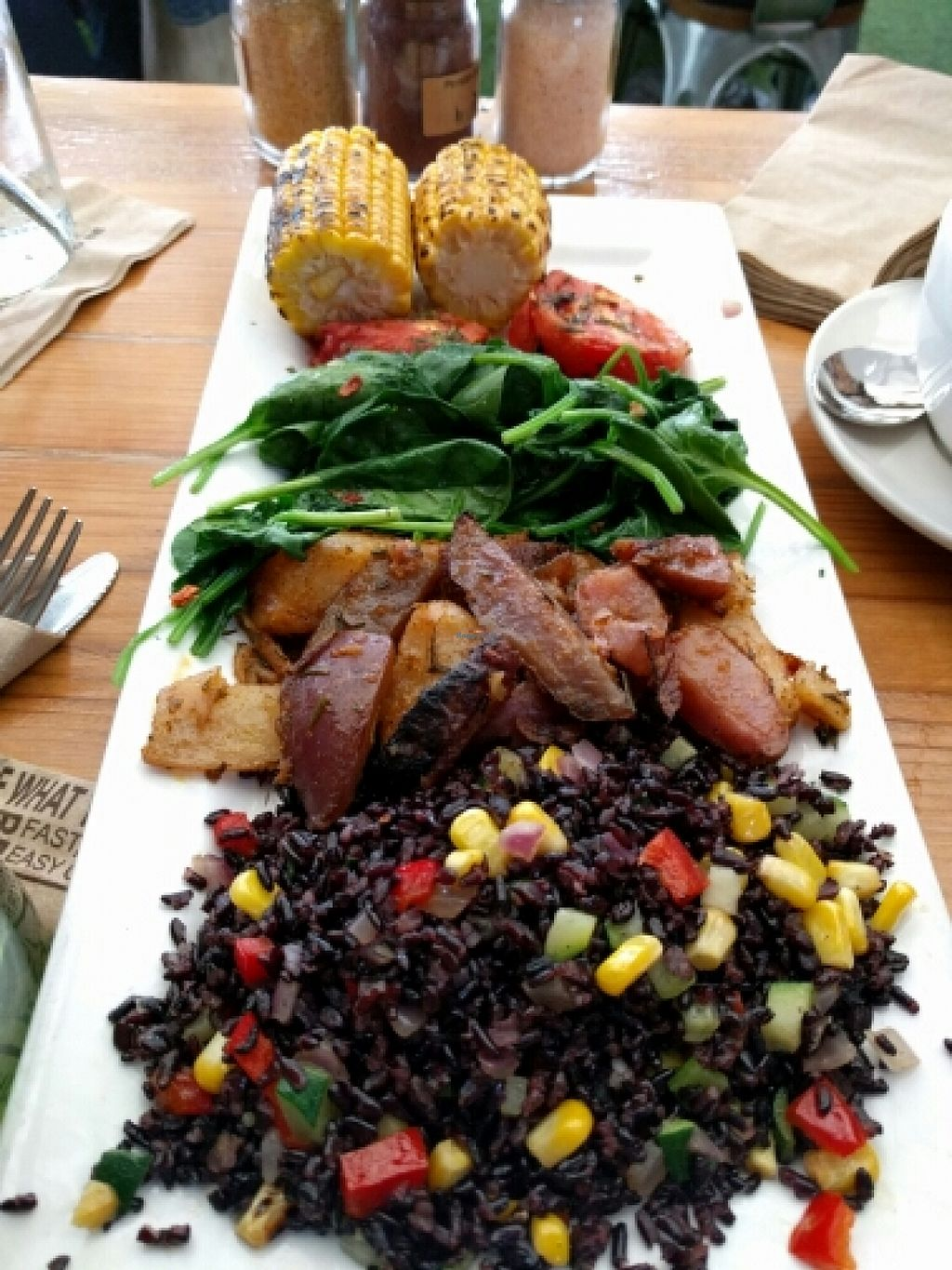 "Photo of Kreation Organic Kafe & Juicery  by <a href=""/members/profile/The%20Hungry%20Vegan"">The Hungry Vegan</a> <br/>Warm Veggie Tapas Sampler <br/> January 18, 2016  - <a href='/contact/abuse/image/14384/132940'>Report</a>"