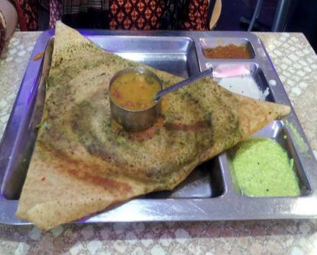 "Photo of Saravanaa Bhavan  by <a href=""/members/profile/Joyatri"">Joyatri</a> <br/>Palak dosa <br/> January 21, 2012  - <a href='/contact/abuse/image/14439/220982'>Report</a>"
