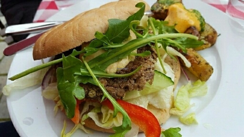 """Photo of Pygmalion  by <a href=""""/members/profile/sophiefp"""">sophiefp</a> <br/>yummy vegan burger <br/> July 20, 2016  - <a href='/contact/abuse/image/14441/161041'>Report</a>"""
