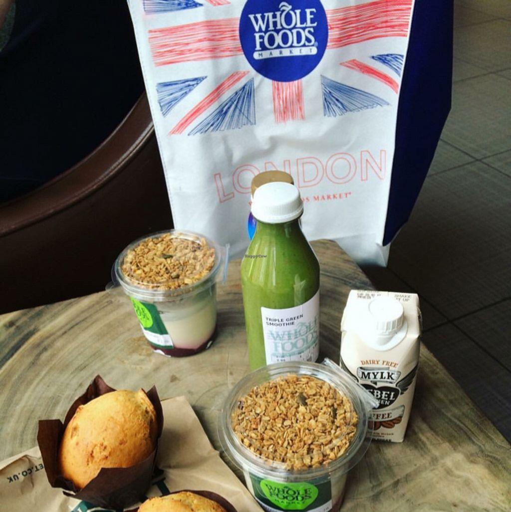 """Photo of Whole Foods Market - Kensington High St  by <a href=""""/members/profile/DollyWiggles"""">DollyWiggles</a> <br/>typical breakfast for us <br/> April 28, 2016  - <a href='/contact/abuse/image/14443/146594'>Report</a>"""