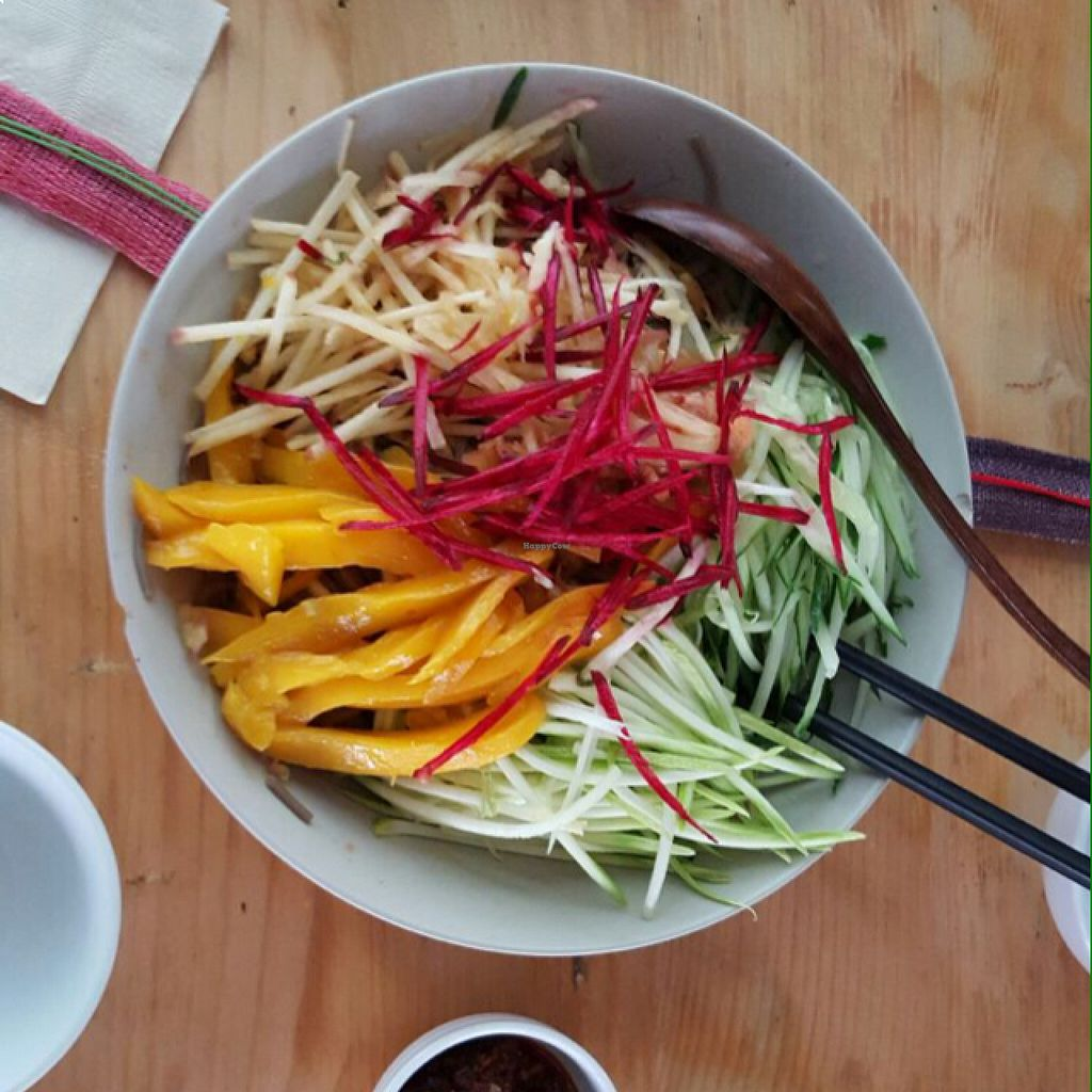 """Photo of Beijing Vegan Hut  by <a href=""""/members/profile/lunapavo"""">lunapavo</a> <br/>noodles!  <br/> August 22, 2015  - <a href='/contact/abuse/image/14458/114689'>Report</a>"""