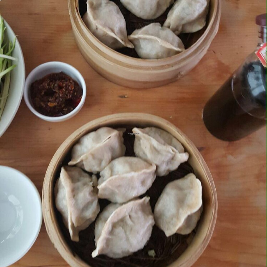 """Photo of Beijing Vegan Hut  by <a href=""""/members/profile/lunapavo"""">lunapavo</a> <br/>dumplings <br/> August 22, 2015  - <a href='/contact/abuse/image/14458/114690'>Report</a>"""