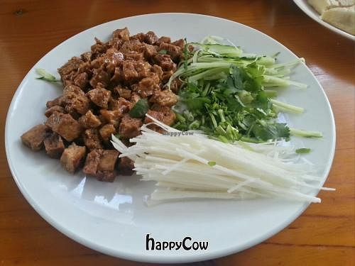 """Photo of Beijing Vegan Hut  by <a href=""""/members/profile/psiphi75"""">psiphi75</a> <br/>This fun dish came with small wraps to make small food bundles <br/> November 17, 2012  - <a href='/contact/abuse/image/14458/40320'>Report</a>"""