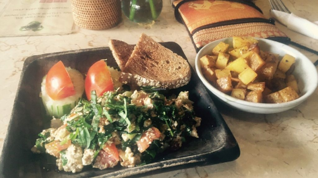 """Photo of Kafe  by <a href=""""/members/profile/bthevegantraveller"""">bthevegantraveller</a> <br/>tofu scramble and breakfast potatoes  <br/> March 8, 2016  - <a href='/contact/abuse/image/14466/139265'>Report</a>"""