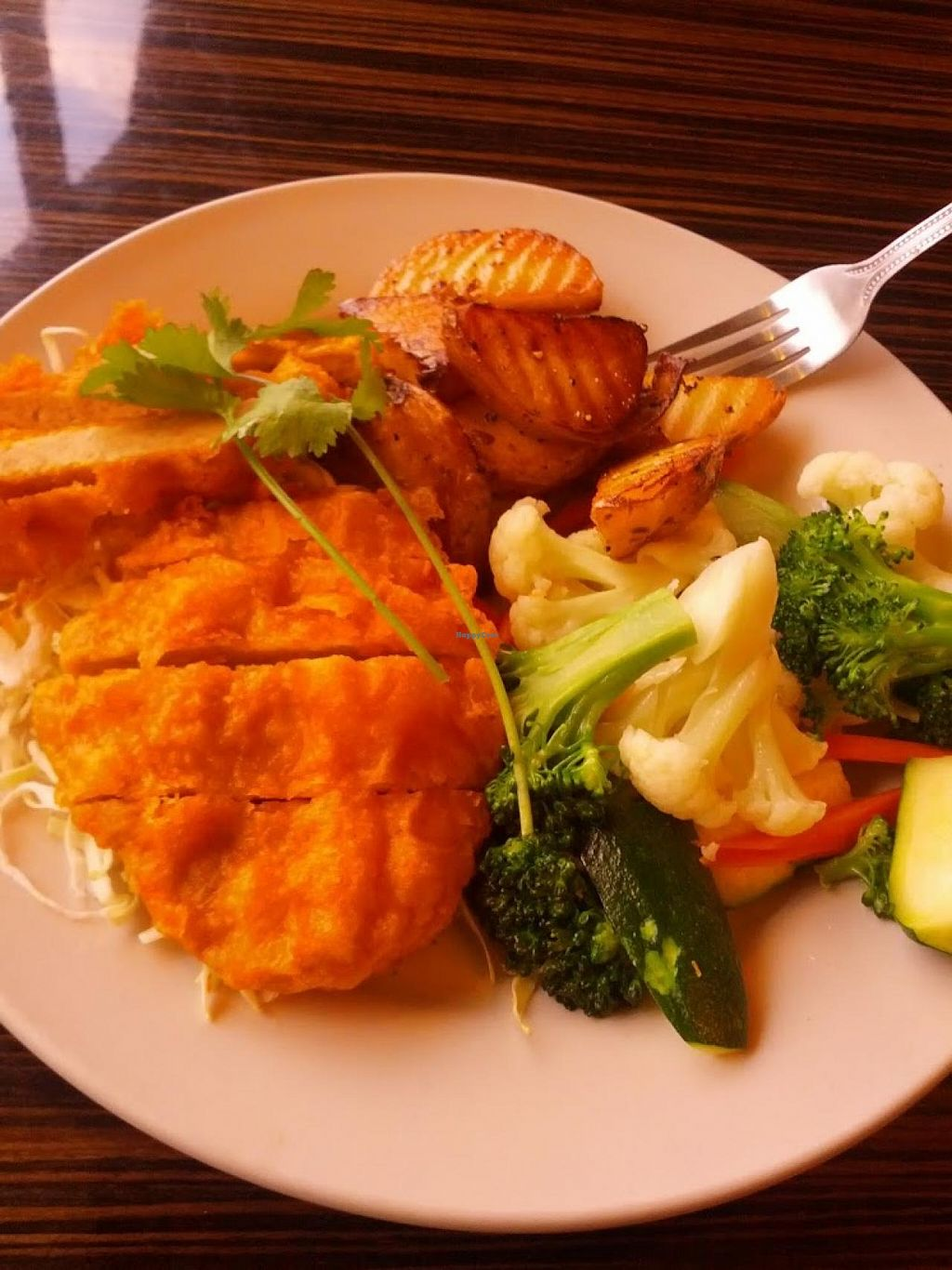 """Photo of LA Vegan  by <a href=""""/members/profile/jeshualack"""">jeshualack</a> <br/>The 'chicken' dinner <br/> July 16, 2015  - <a href='/contact/abuse/image/14477/109571'>Report</a>"""