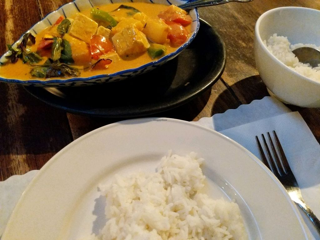 """Photo of LA Vegan  by <a href=""""/members/profile/Sandra%26Lunita"""">Sandra&Lunita</a> <br/>pineapple curry with a side of plain rice <br/> January 30, 2018  - <a href='/contact/abuse/image/14477/352643'>Report</a>"""