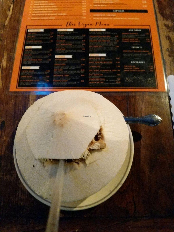 "Photo of LA Vegan  by <a href=""/members/profile/Sandra%26Lunita"">Sandra&Lunita</a> <br/>young fresh coconut - delicious! <br/> January 30, 2018  - <a href='/contact/abuse/image/14477/352644'>Report</a>"