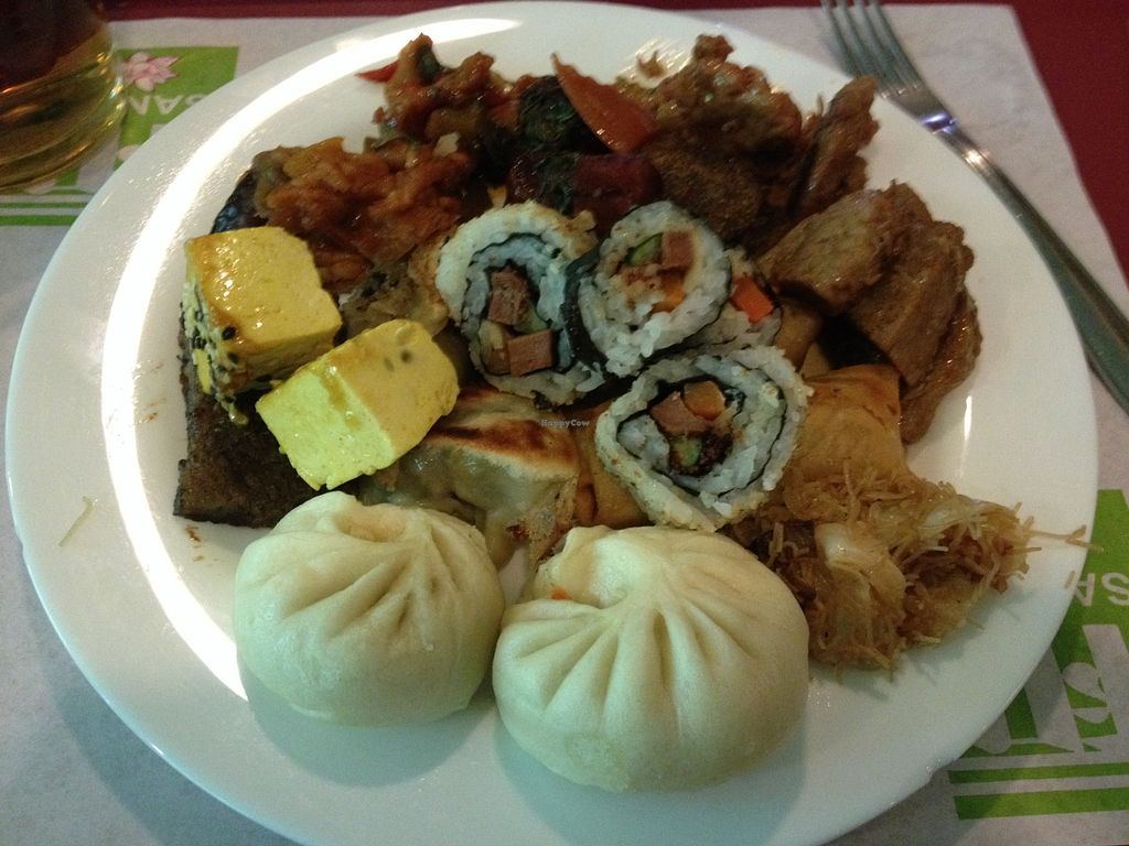 """Photo of San Ro  by <a href=""""/members/profile/vegan_ryan"""">vegan_ryan</a> <br/>Buffet plate <br/> August 1, 2015  - <a href='/contact/abuse/image/14532/111800'>Report</a>"""