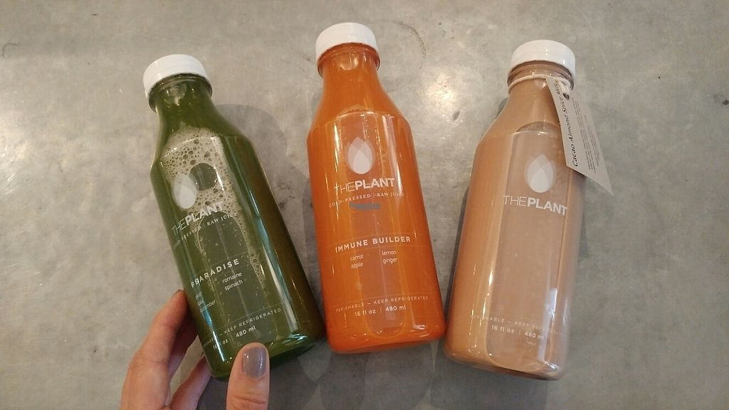 "Photo of The Plant Cafe Organic - Marina Cafe  by <a href=""/members/profile/Katbarry1"">Katbarry1</a> <br/>Juice to go! These are great to have in the fridge <br/> November 28, 2016  - <a href='/contact/abuse/image/14559/195453'>Report</a>"