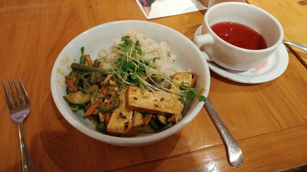 "Photo of The Plant Cafe Organic - Marina Cafe  by <a href=""/members/profile/Katbarry1"">Katbarry1</a> <br/>Dinner is served! <br/> November 28, 2016  - <a href='/contact/abuse/image/14559/195454'>Report</a>"