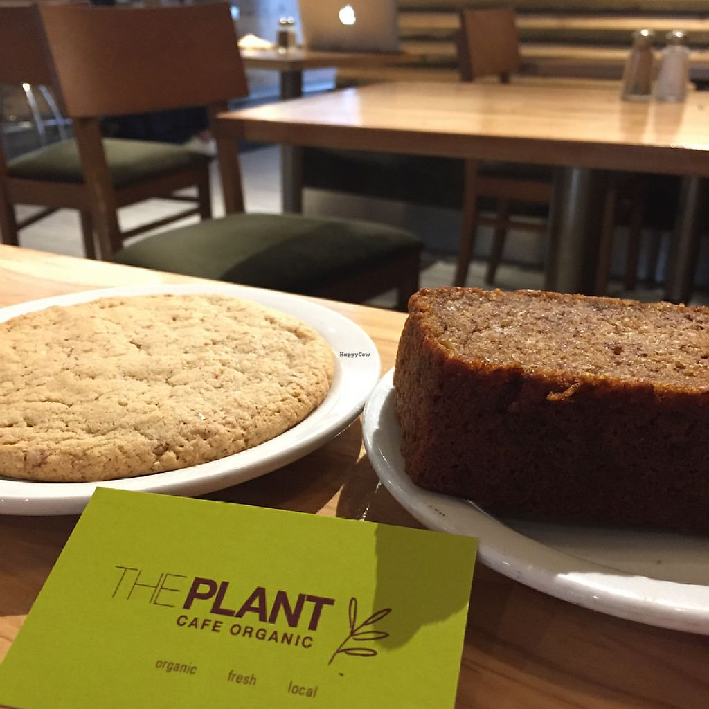 "Photo of The Plant Cafe Organic - Marina Cafe  by <a href=""/members/profile/Jennifer_Paris"">Jennifer_Paris</a> <br/>vegan banana bread and vegan almond lemon cookie ?? <br/> May 11, 2017  - <a href='/contact/abuse/image/14559/257953'>Report</a>"