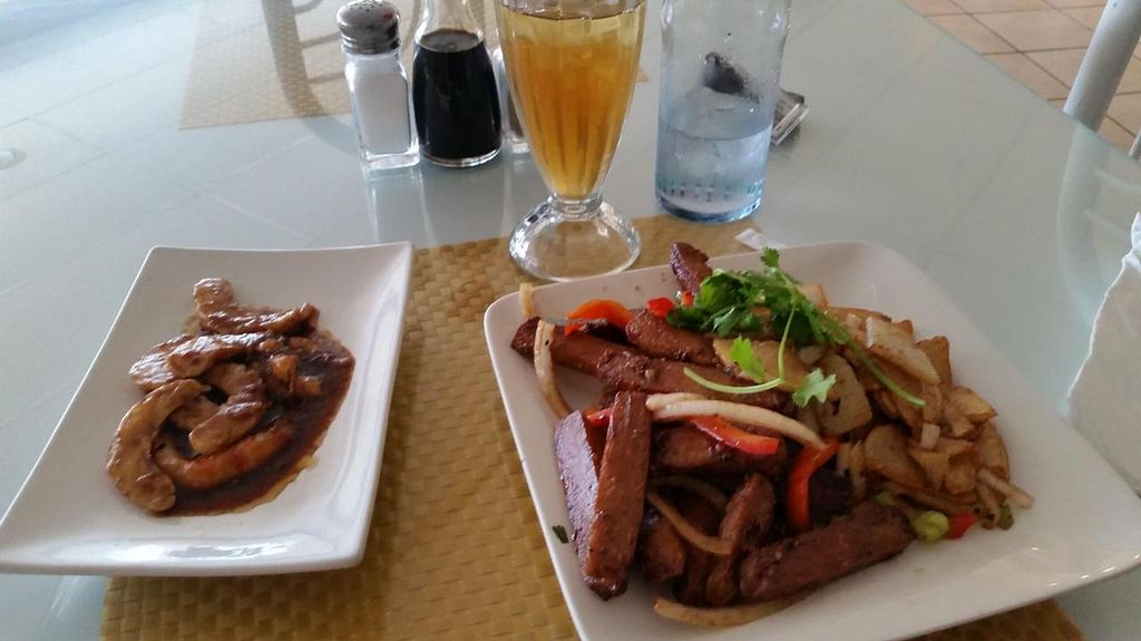 """Photo of Loving Hut  by <a href=""""/members/profile/Imriela"""">Imriela</a> <br/>steak and potatoes with a side of yam shrimp <br/> July 27, 2014  - <a href='/contact/abuse/image/1456/75242'>Report</a>"""