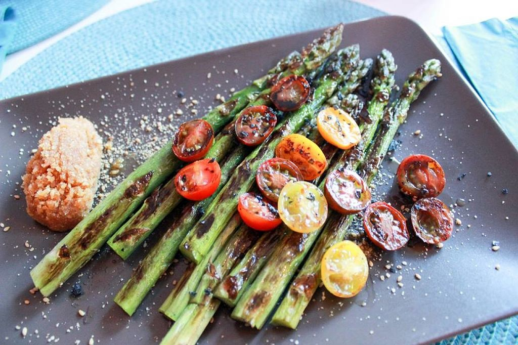 """Photo of Restaurante Amaltea  by <a href=""""/members/profile/SueClesh"""">SueClesh</a> <br/>asparagus with cherry tomatoes and almonds <br/> June 23, 2016  - <a href='/contact/abuse/image/14597/155748'>Report</a>"""