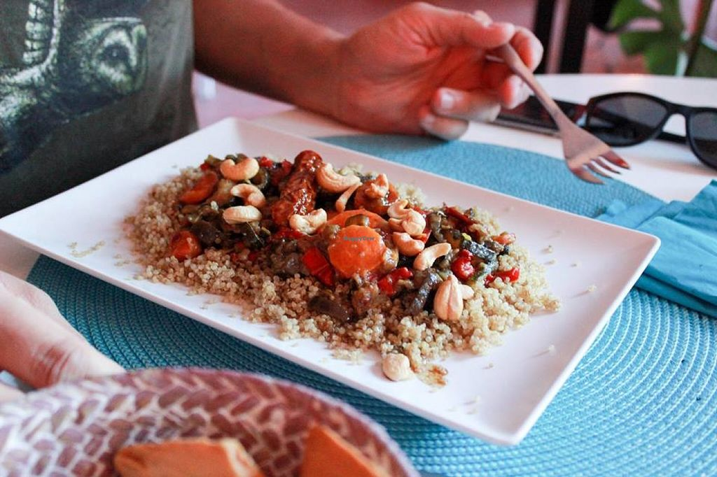 """Photo of Restaurante Amaltea  by <a href=""""/members/profile/SueClesh"""">SueClesh</a> <br/>couscous with vegetables <br/> June 23, 2016  - <a href='/contact/abuse/image/14597/155749'>Report</a>"""