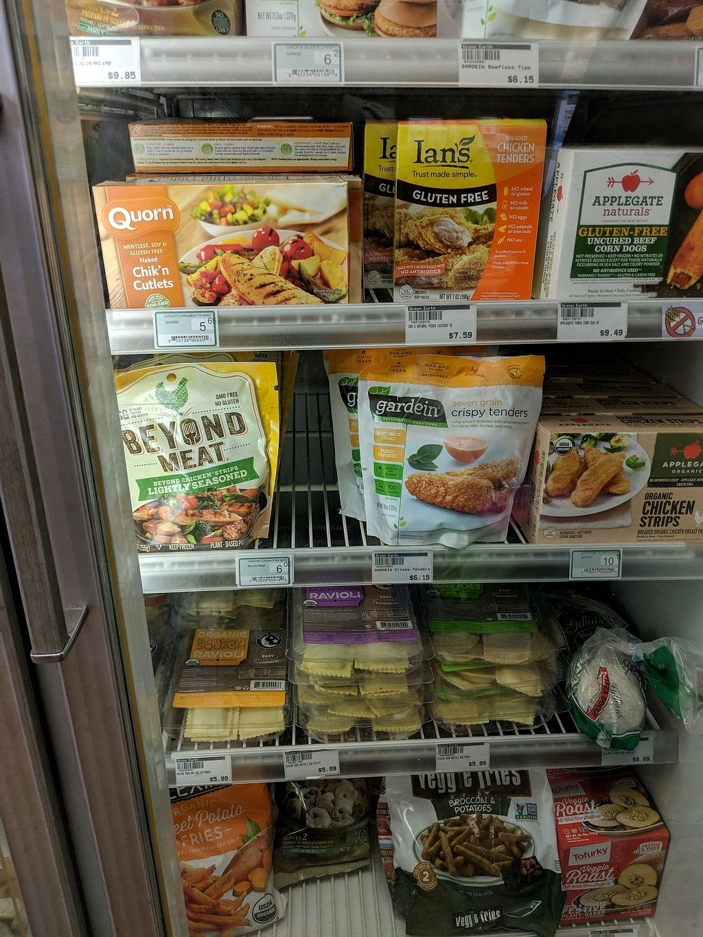 "Photo of Green Earth Health Food Market & Cafe  by <a href=""/members/profile/ToriKriegel"">ToriKriegel</a> <br/>All the fake meat <br/> April 7, 2018  - <a href='/contact/abuse/image/14642/382030'>Report</a>"