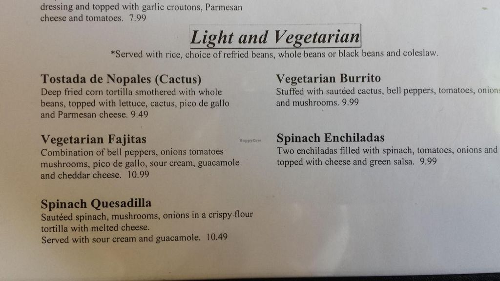 Photo of La Casa Don Miquel  by Navegante <br/>Vegetarian menu.  September 2014 <br/> September 26, 2014  - <a href='/contact/abuse/image/14687/81149'>Report</a>