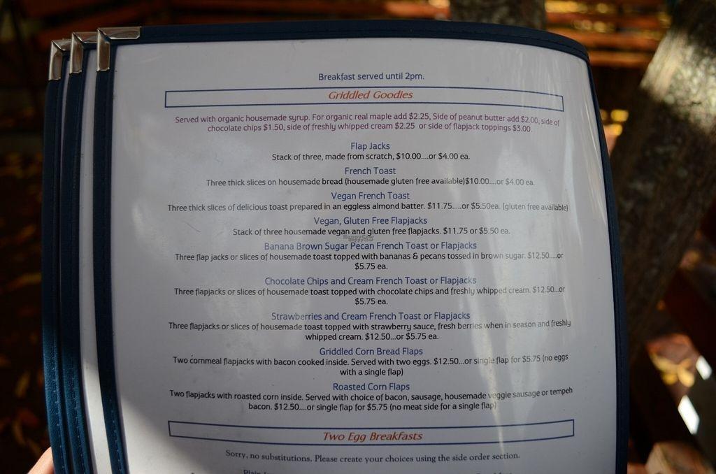 "Photo of Ike's Quarter Cafe  by <a href=""/members/profile/alexandra_vegan"">alexandra_vegan</a> <br/>Menu (some vegan items) <br/> November 7, 2016  - <a href='/contact/abuse/image/14700/187116'>Report</a>"
