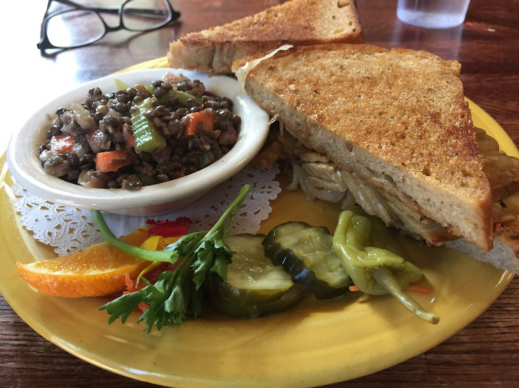 """Photo of Ike's Quarter Cafe  by <a href=""""/members/profile/sncpapa"""">sncpapa</a> <br/>Tempeh Ruben Sandwich - ask them to make it Vegan <br/> April 14, 2017  - <a href='/contact/abuse/image/14700/247964'>Report</a>"""