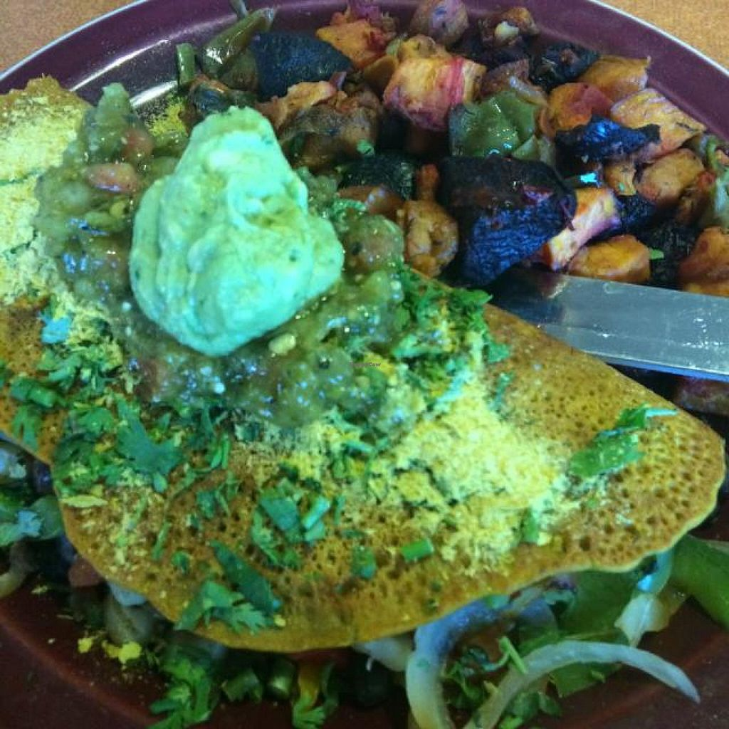 "Photo of Duluth Grill  by <a href=""/members/profile/fitmetalvegan2013"">fitmetalvegan2013</a> <br/>Vegan omelette and red flannel hash <br/> September 14, 2014  - <a href='/contact/abuse/image/14706/79887'>Report</a>"