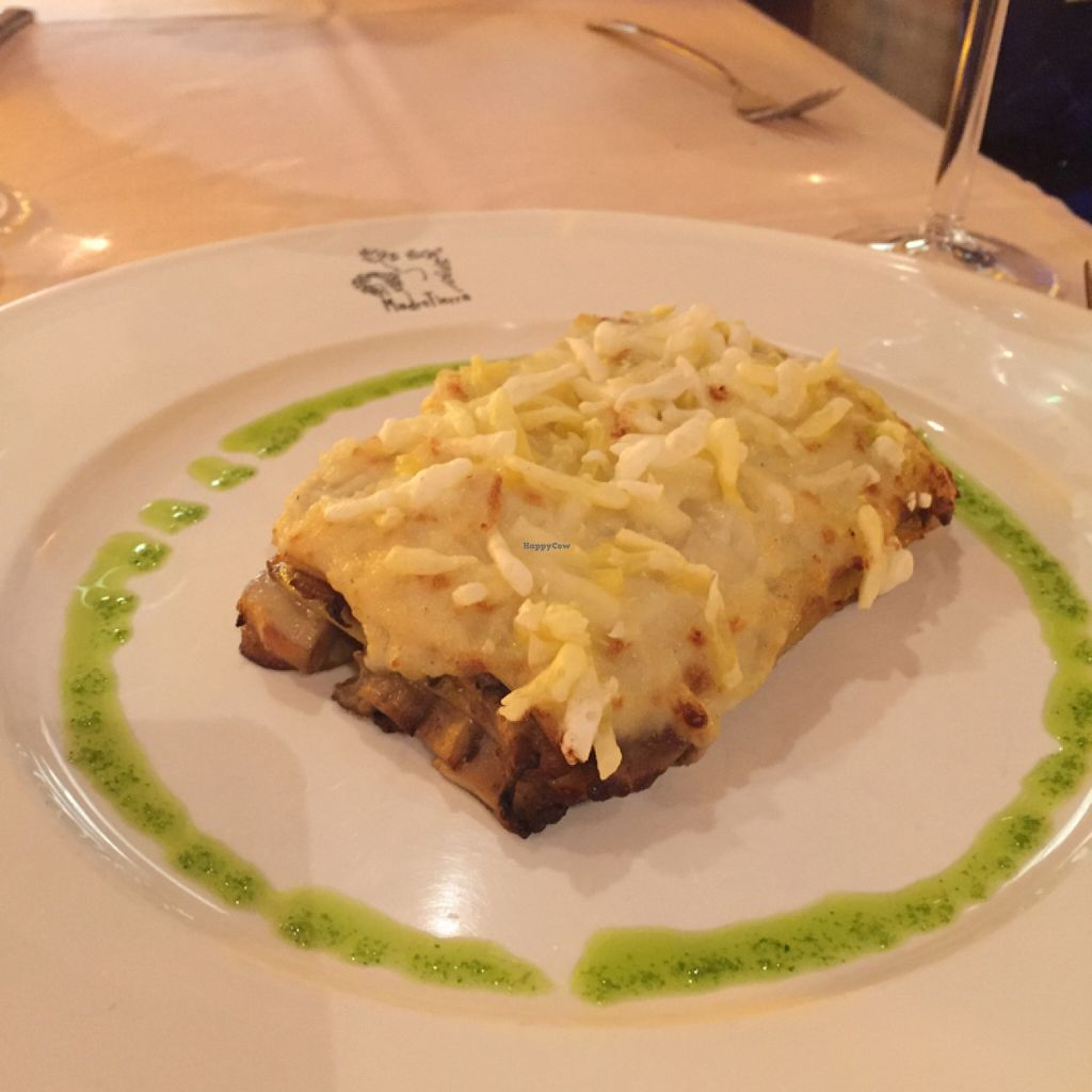 """Photo of Madre Tierra  by <a href=""""/members/profile/Carmila"""">Carmila</a> <br/>Mushroom Lasagna <br/> July 11, 2016  - <a href='/contact/abuse/image/14717/159226'>Report</a>"""