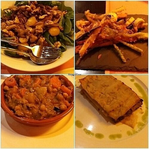 """Photo of Madre Tierra  by <a href=""""/members/profile/NadjaMadeleine"""">NadjaMadeleine</a> <br/>Spinatsalat, Tempura, Cous-cous & Pilzlasagne  <br/> December 22, 2017  - <a href='/contact/abuse/image/14717/338095'>Report</a>"""