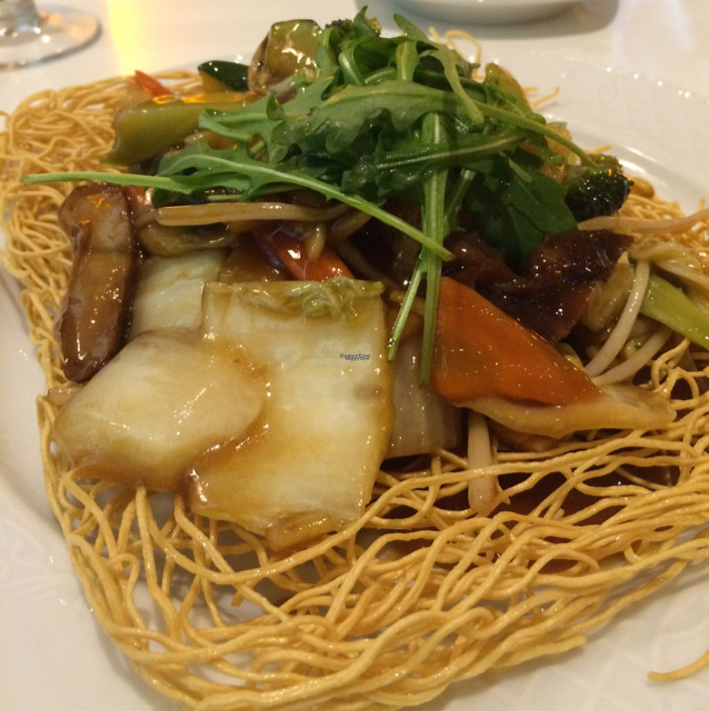 """Photo of Loving Hut - Favoritenstrasse  by <a href=""""/members/profile/Marieanne"""">Marieanne</a> <br/>crispy noodles with soy-duck-meat <br/> March 4, 2017  - <a href='/contact/abuse/image/14720/232609'>Report</a>"""