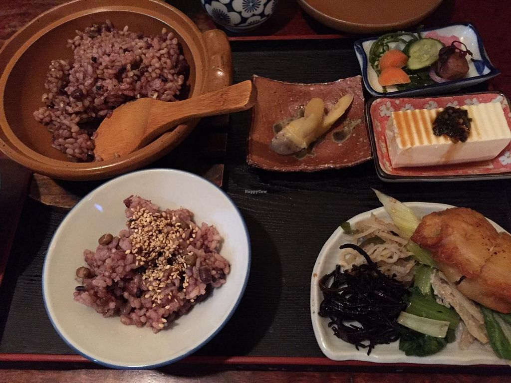 """Photo of Sawa  by <a href=""""/members/profile/Britterbehr"""">Britterbehr</a> <br/>Vegetarian set meal with brown rice  <br/> June 1, 2015  - <a href='/contact/abuse/image/14727/104376'>Report</a>"""