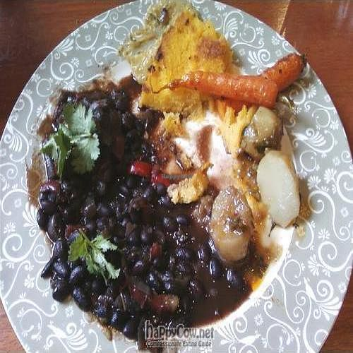 """Photo of Genesis in the Hills  by <a href=""""/members/profile/cvxmelody"""">cvxmelody</a> <br/>Black bean, polenta etc. (vegan dish) - partly eaten :) <br/> August 12, 2010  - <a href='/contact/abuse/image/14729/5516'>Report</a>"""