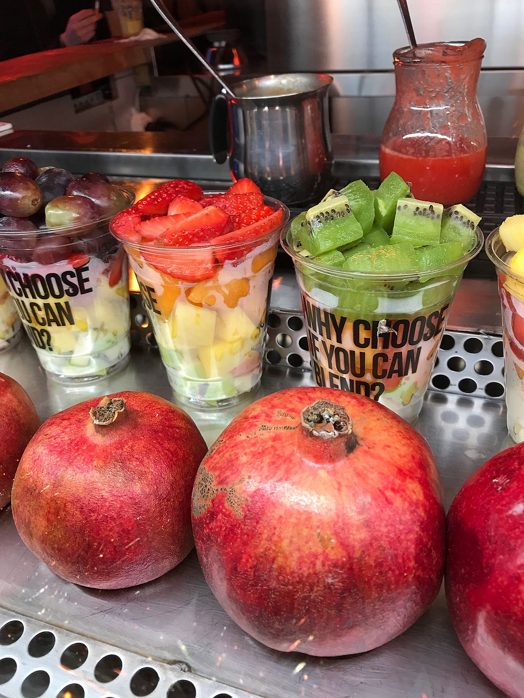 """Photo of Baldrocco Frutta e Verdura  by <a href=""""/members/profile/juliettefrenchvegan"""">juliettefrenchvegan</a> <br/>Juices and hotsmoothies in winter <br/> December 25, 2017  - <a href='/contact/abuse/image/14736/339036'>Report</a>"""