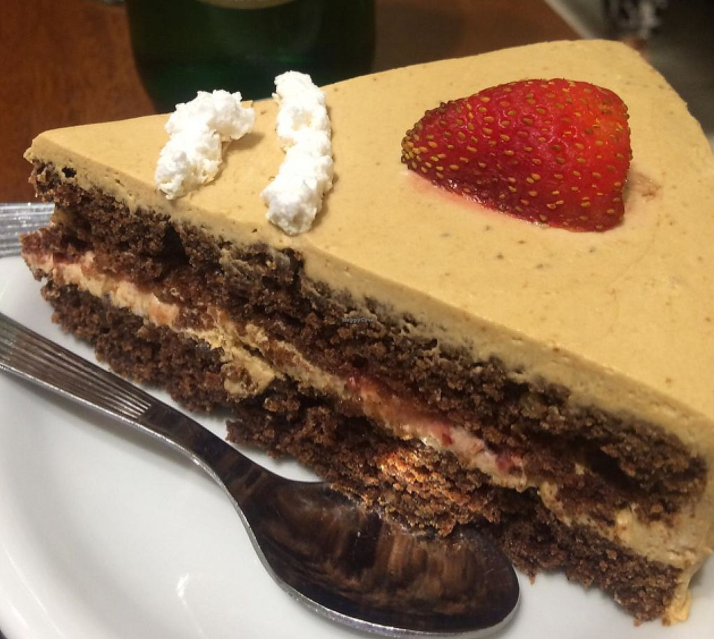 """Photo of Govinda - Godoy Cruz  by <a href=""""/members/profile/CherylLynne"""">CherylLynne</a> <br/>one of the three vegan cakes for dessert  <br/> February 6, 2015  - <a href='/contact/abuse/image/14746/287433'>Report</a>"""