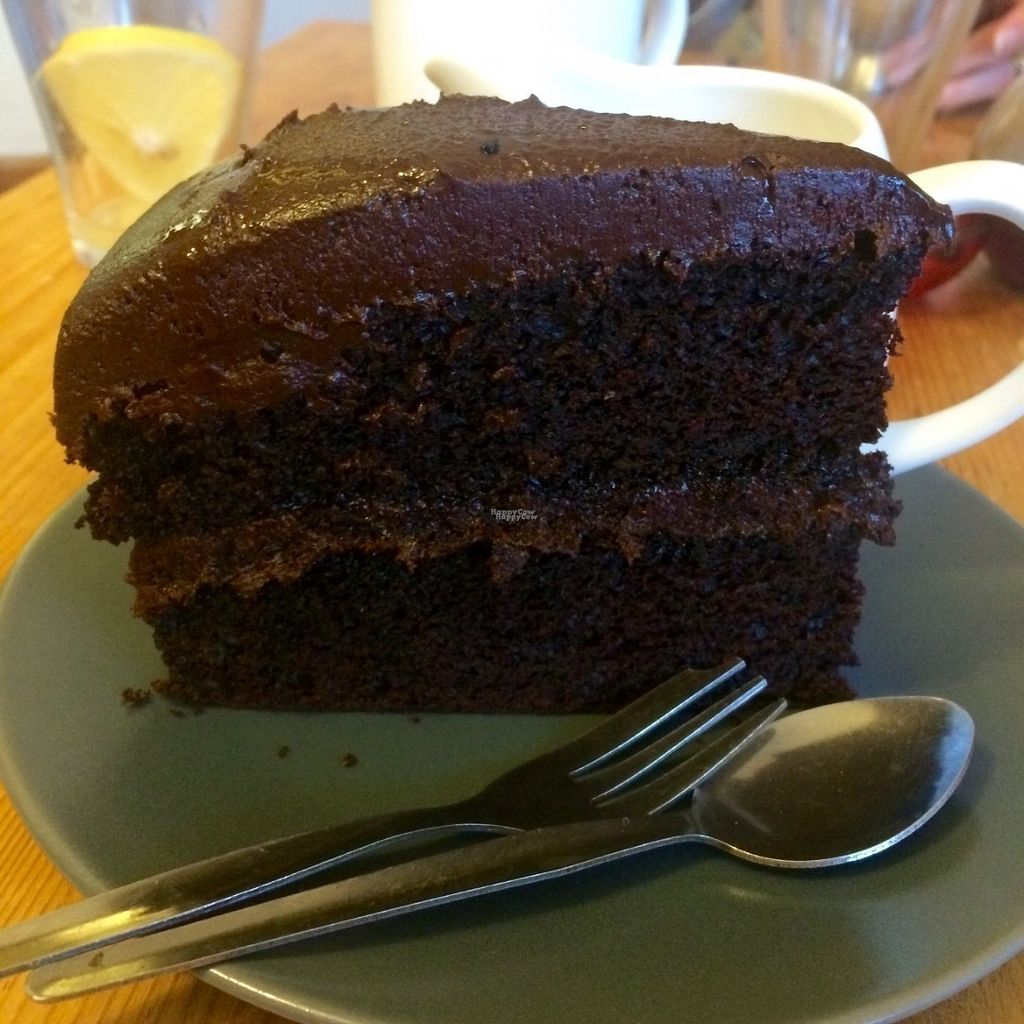 """Photo of The Green Way Cafe  by <a href=""""/members/profile/Libra77"""">Libra77</a> <br/>Double chocolate cake <br/> October 1, 2016  - <a href='/contact/abuse/image/14809/178901'>Report</a>"""