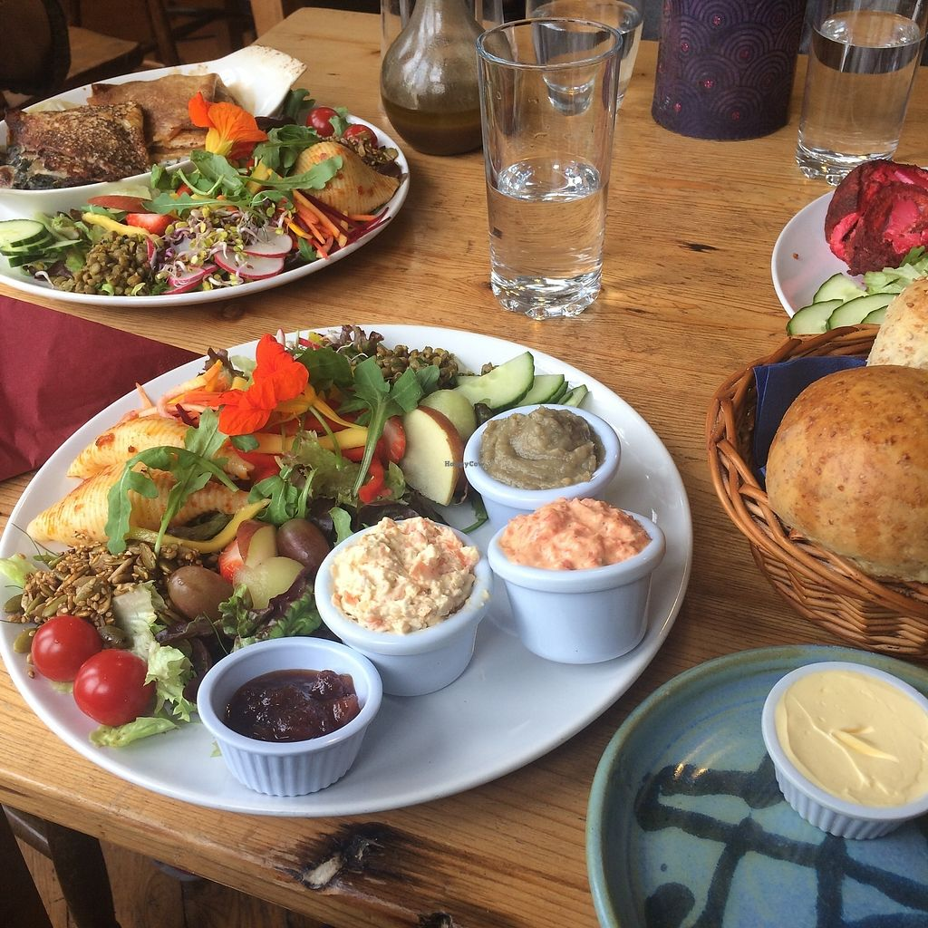 """Photo of The Green Way Cafe  by <a href=""""/members/profile/Hoggy"""">Hoggy</a> <br/>Vegan pancakes (top). Vegan Deli (bottom) <br/> September 20, 2017  - <a href='/contact/abuse/image/14809/306478'>Report</a>"""
