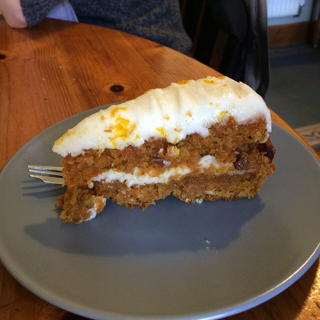 """Photo of The Green Way Cafe  by <a href=""""/members/profile/Hoggy"""">Hoggy</a> <br/>Vegan carrot cake <br/> September 20, 2017  - <a href='/contact/abuse/image/14809/306481'>Report</a>"""