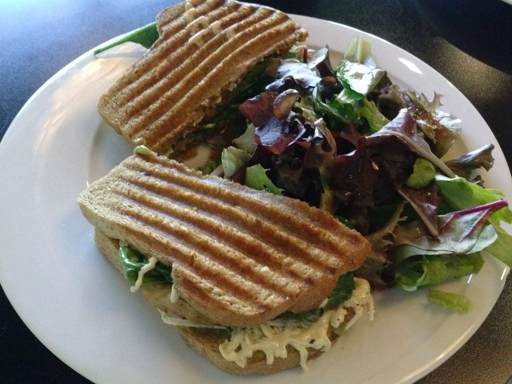 "Photo of CLOSED: Red Velvet Cafe - Sahara  by <a href=""/members/profile/Sonja%20and%20Dirk"">Sonja and Dirk</a> <br/>veganized chicken, spinach and artichoke panini <br/> December 29, 2014  - <a href='/contact/abuse/image/14814/88981'>Report</a>"