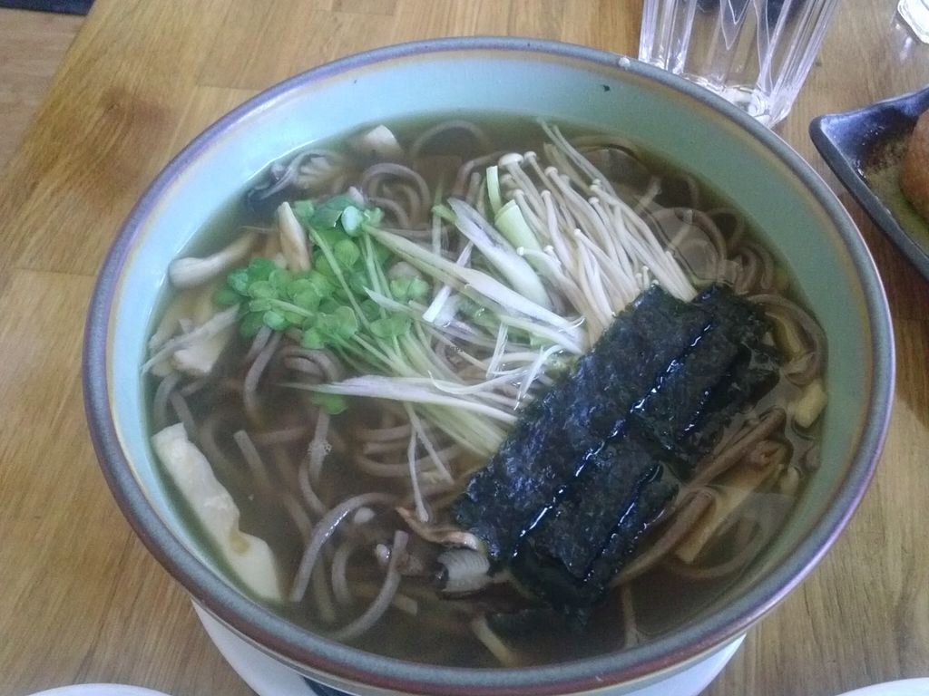 """Photo of Cha-Ya  by <a href=""""/members/profile/Sonja%20and%20Dirk"""">Sonja and Dirk</a> <br/>kinoko noodle soup <br/> September 20, 2015  - <a href='/contact/abuse/image/1481/118544'>Report</a>"""