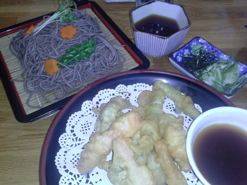 """Photo of Cha-Ya  by <a href=""""/members/profile/Sonja%20and%20Dirk"""">Sonja and Dirk</a> <br/>vegetable tempura zaru with soba noodles <br/> September 20, 2015  - <a href='/contact/abuse/image/1481/118545'>Report</a>"""