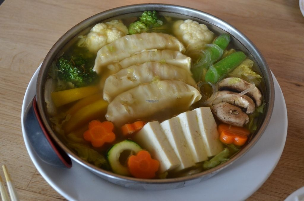 """Photo of Cha-Ya  by <a href=""""/members/profile/alexandra_vegan"""">alexandra_vegan</a> <br/>Taku-Sui (vegetables , potstickers, glass noodles) - included in lunch special <br/> August 2, 2016  - <a href='/contact/abuse/image/1481/164425'>Report</a>"""