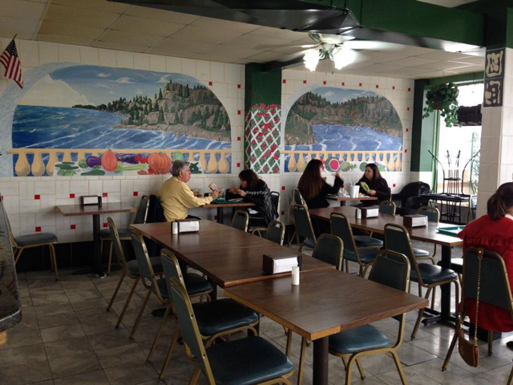 """Photo of Big Al's Healthy Foods  by <a href=""""/members/profile/NomNomNominator"""">NomNomNominator</a> <br/>clever paintings on the seating area wall <br/> December 29, 2013  - <a href='/contact/abuse/image/14848/61212'>Report</a>"""