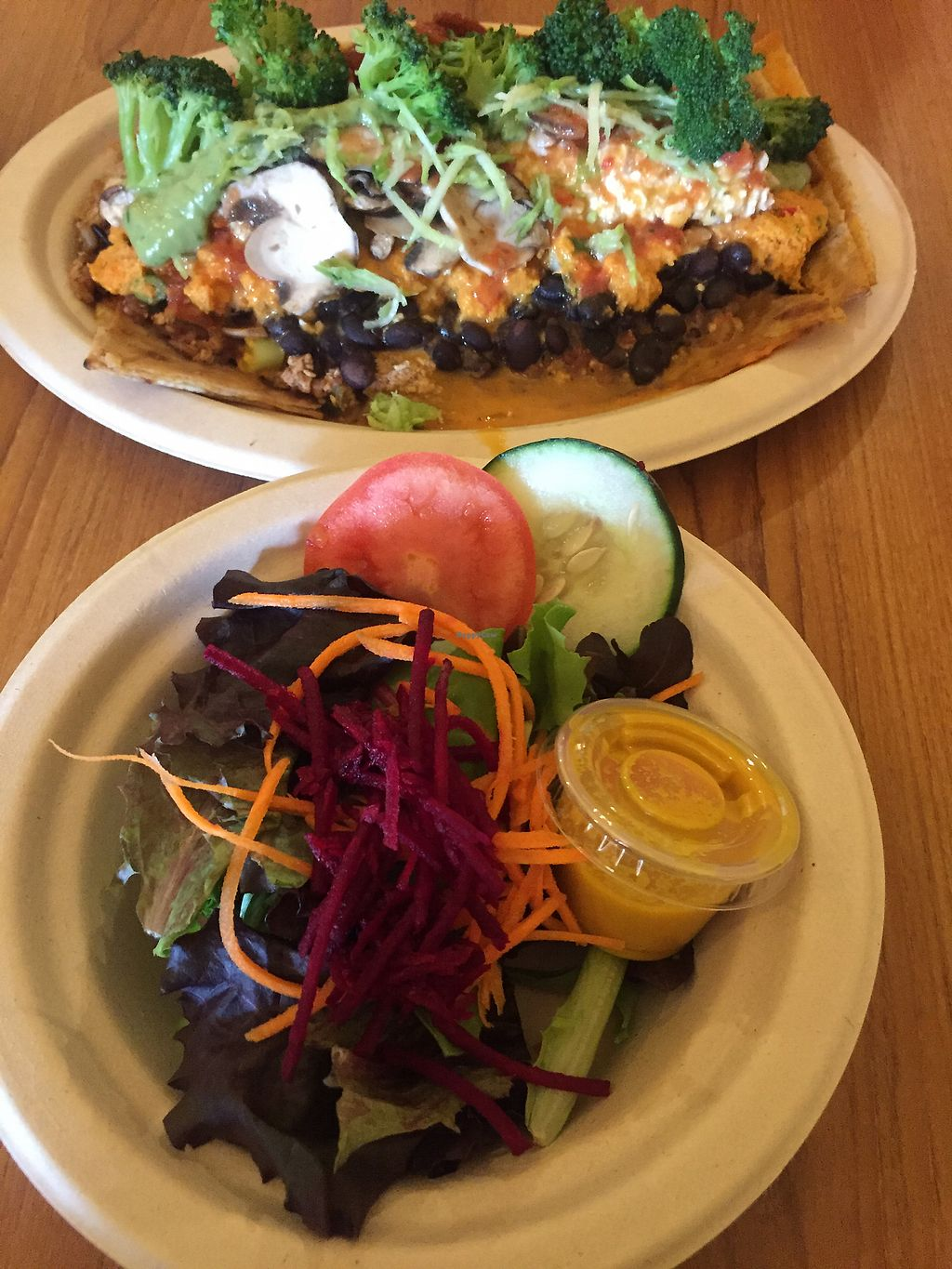 """Photo of Stuff I Eat  by <a href=""""/members/profile/R-MV"""">R-MV</a> <br/>Kilimanjaro Quesadilla and side salad <br/> August 14, 2017  - <a href='/contact/abuse/image/14920/292464'>Report</a>"""